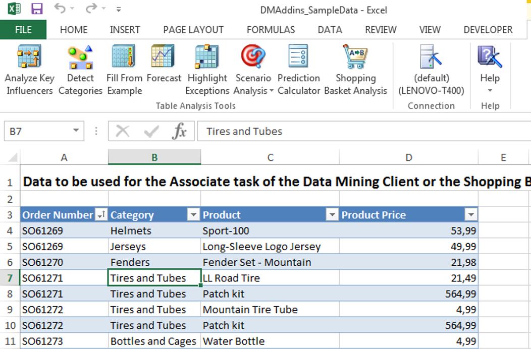 demo data mining