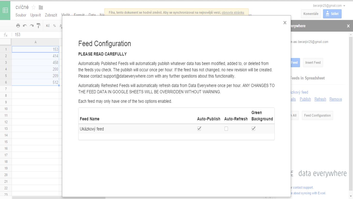 parametry feedů