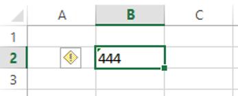 změna na text před změnou s trojúhelníkem