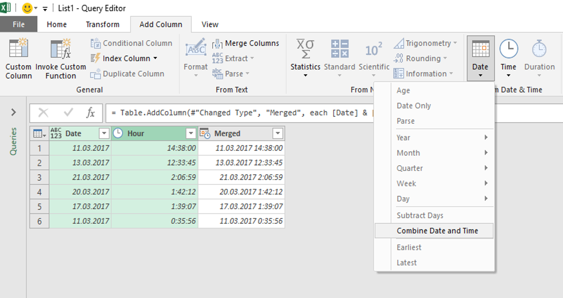 Combine date and time in excel in Perth
