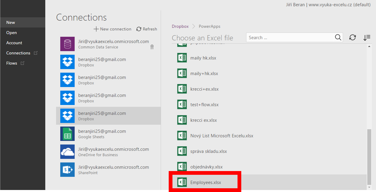 Basic PowerApps application – ExcelTown