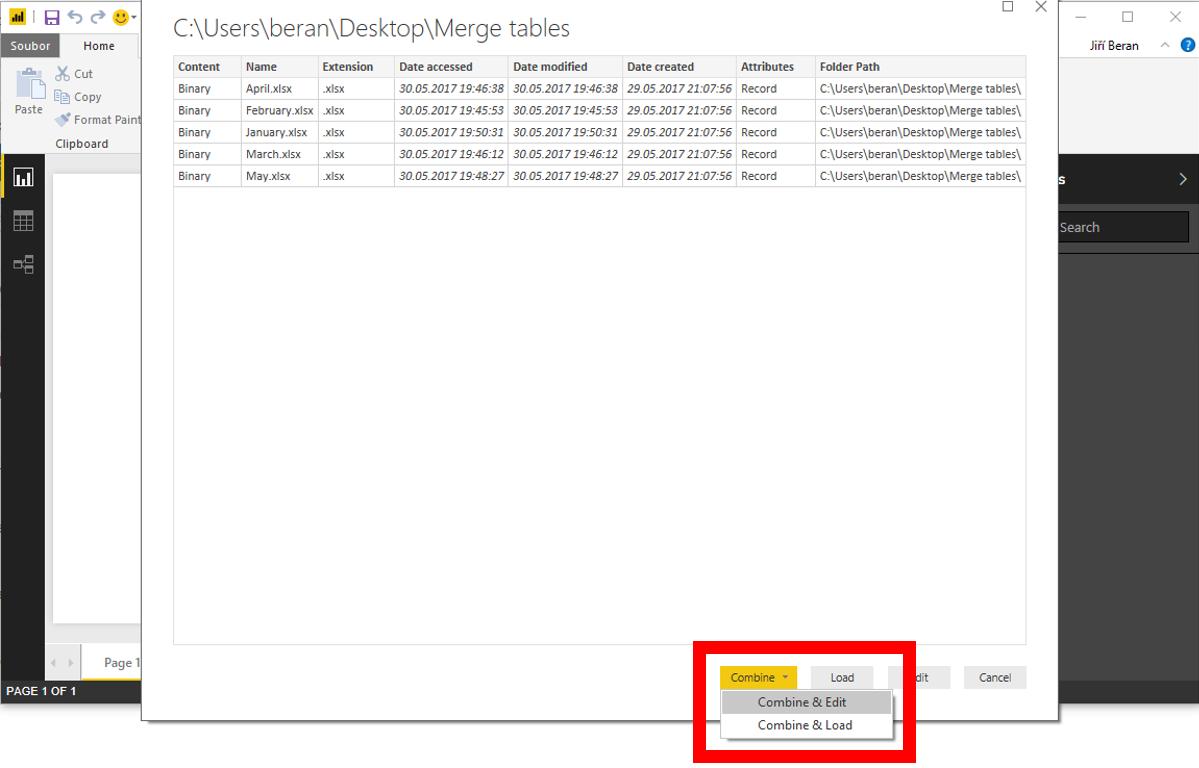 Merging of data from all files in folder in Power BI – ExcelTown