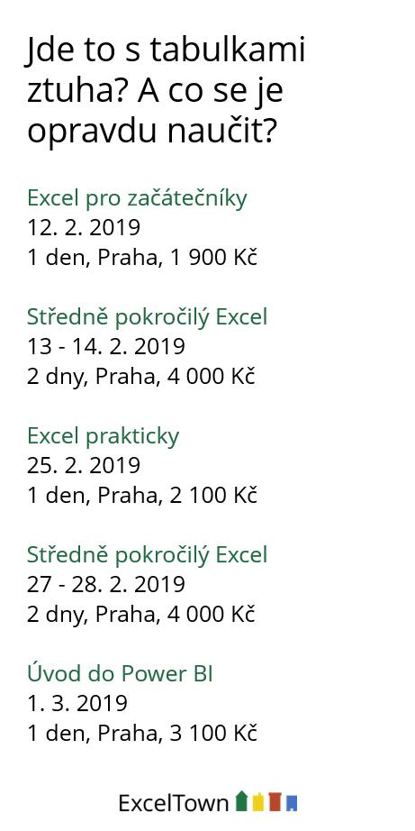 Excel školení (otevře se do nového okna)