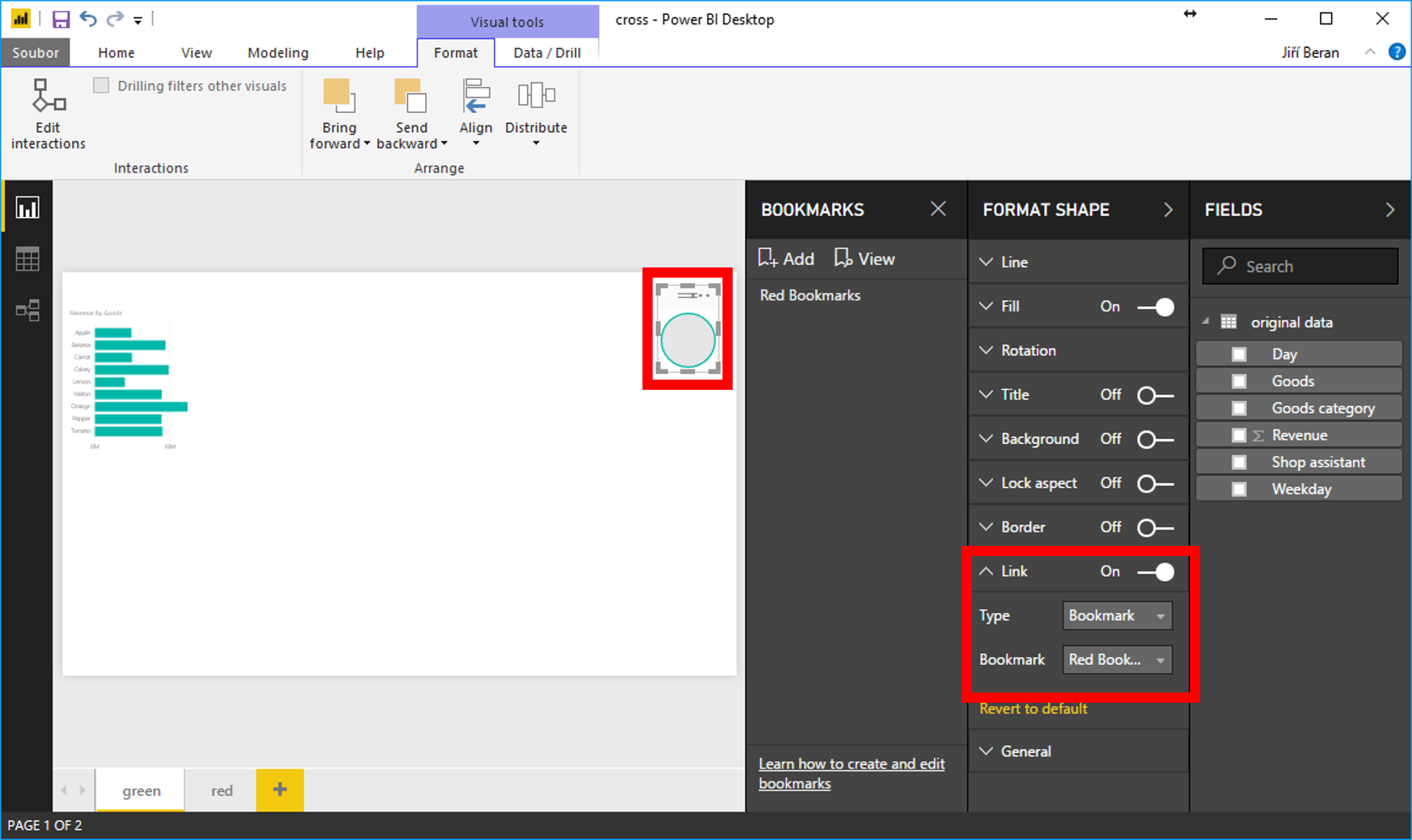 Bookmarks and links in Power BI – ExcelTown