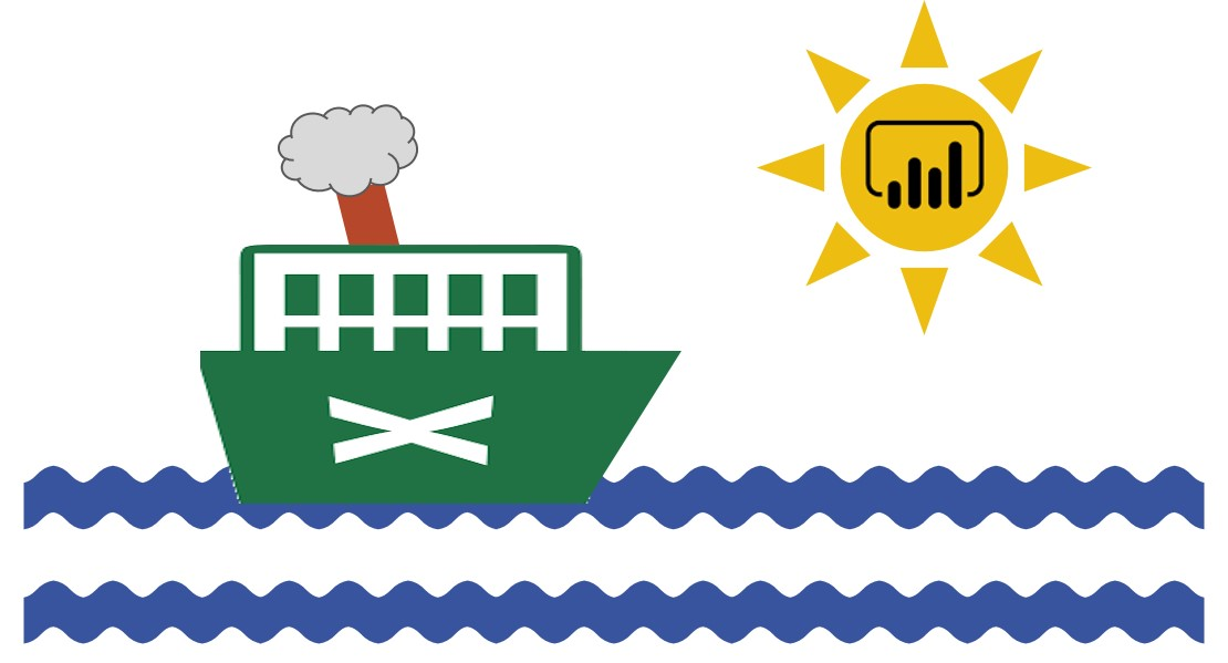 Power BI Excel ship sun image
