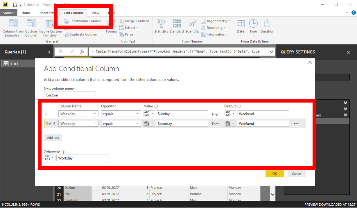 Conditional column in Power Query and in Power Pivot queries – ExcelTown